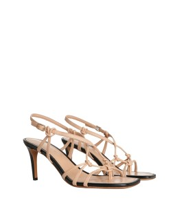 strappy sandals - one of this summer's biggest shoe trends. Here's a zimmerman stappy sandal in beige and black.