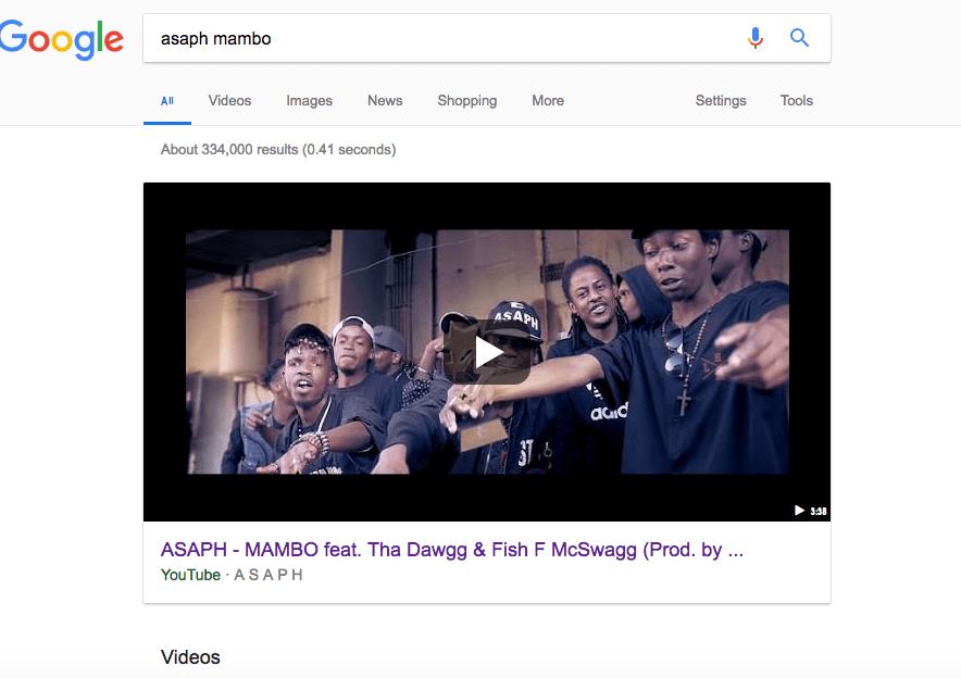 Asaph mambo Google Test