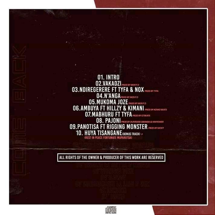 Maskiri Come Back tracklist