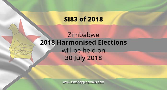 Zimbabwe Elections Set for July 30, 2018