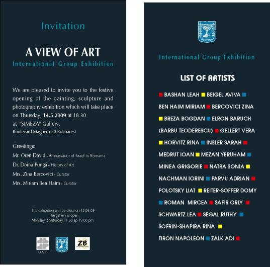Art Romania Exhibition Invitation May 2009