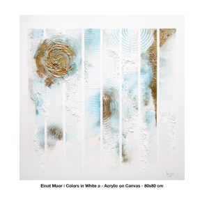 Colours in White by Elnat Mair, 80 x 80cm
