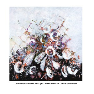 Chalabi Leila - Pattern and Leight - mixed media - 80 x 80cm