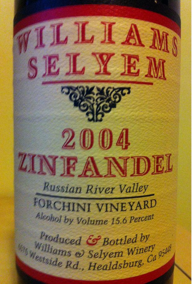William Selyem 2004 Zinfandel