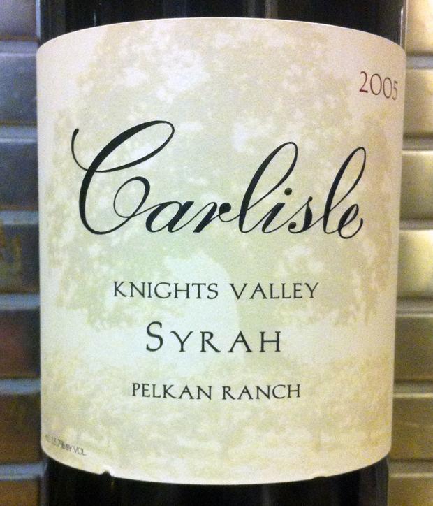 2005 Carlisle Pelkan Ranch Syrah