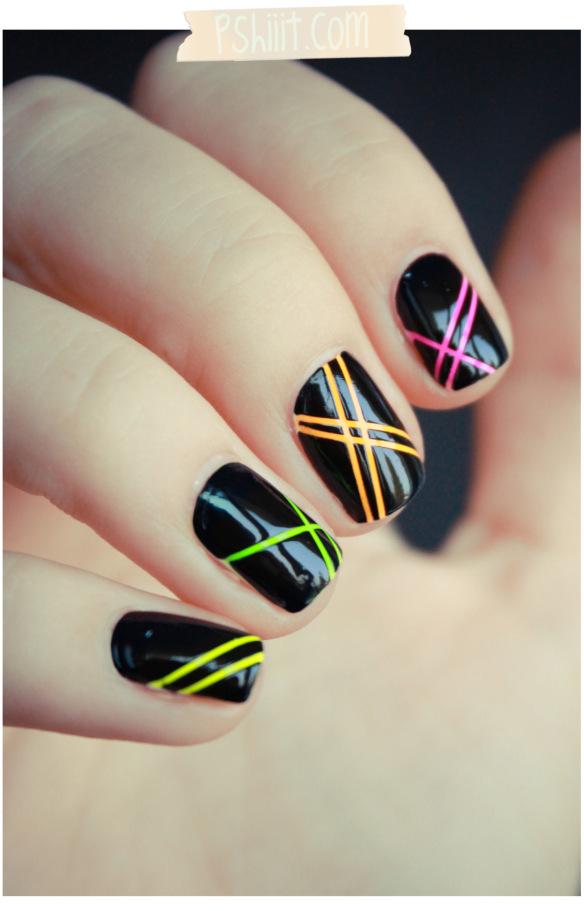 black-neon-nails Manikiūras 2013 metais!