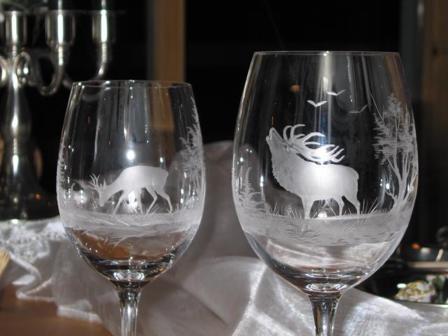 Rotwein-/Weissweinglas