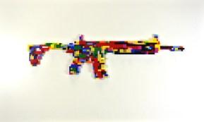 Rifle assoult - lego su tavola, 100x60