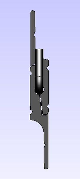Zinterlock split batten (french cleat) pair, locked with security pin