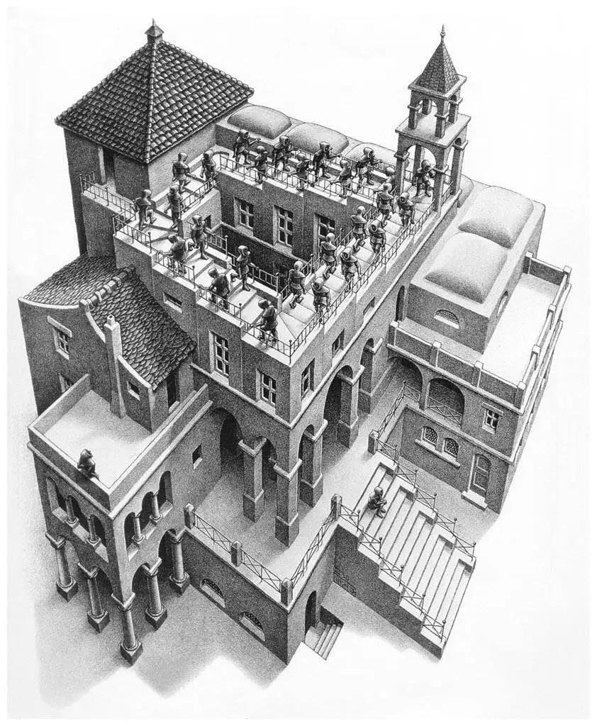 M.C. Escher - Klimmen en dalen