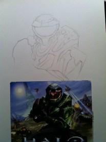 Halo Sketch Step 1