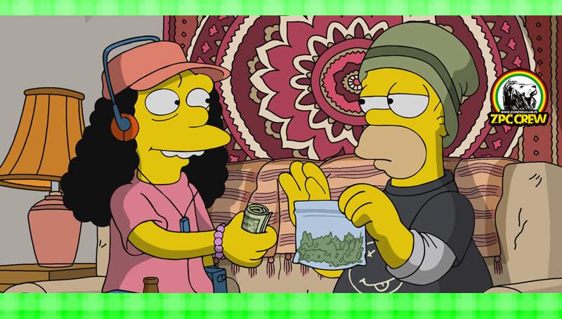 Los Simpson legalizan la marihuana