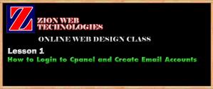 Zion Web Design Training Online
