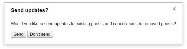 Google Calendar Send Updates