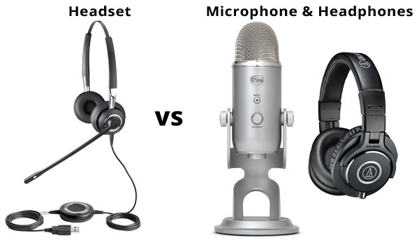 Headset vs Mic & Headphones