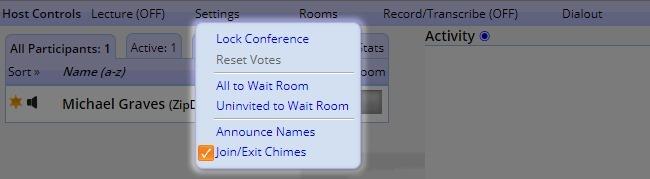 Host Controls - Settings
