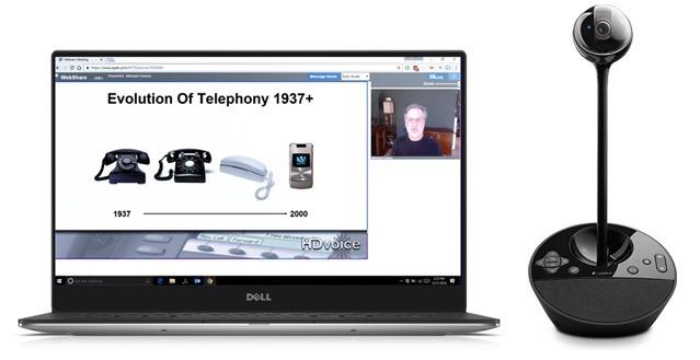 Laptop with external webcam