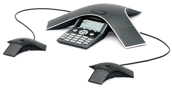 An excellent conference phone with extension microphones