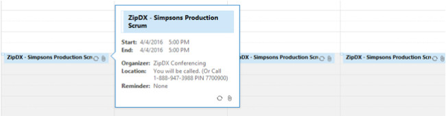 Recurring conference in Outlook calendar