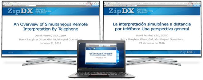SlideShow on monitors & laptop