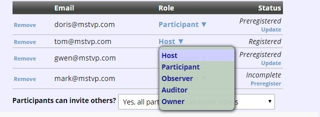 create conference via web assign hosts