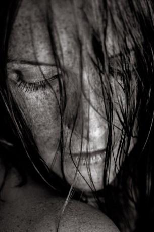 Carina Sommersprossen nasse Haare Shooting 4
