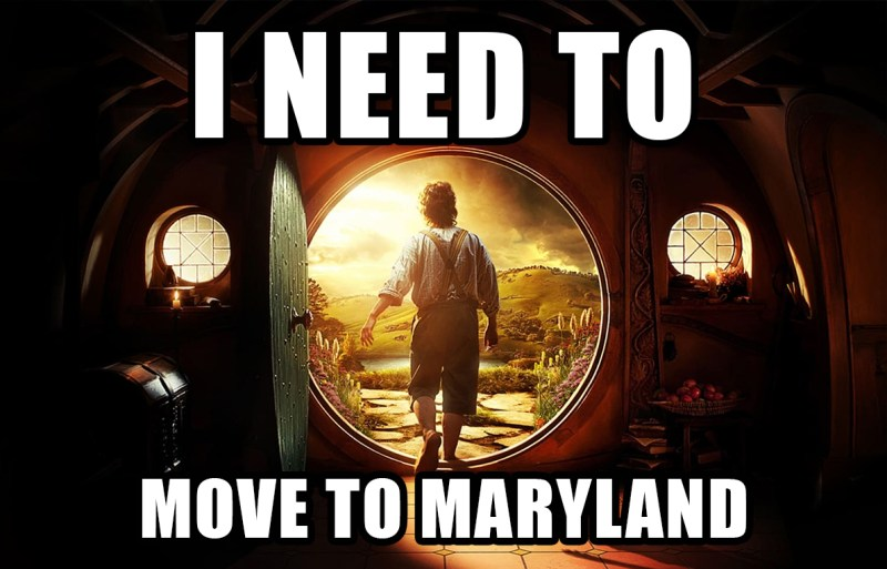 Moving to Maryland