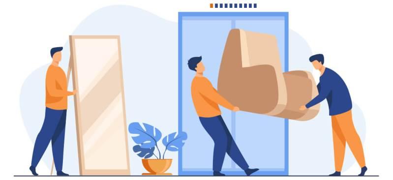 people moving furniture