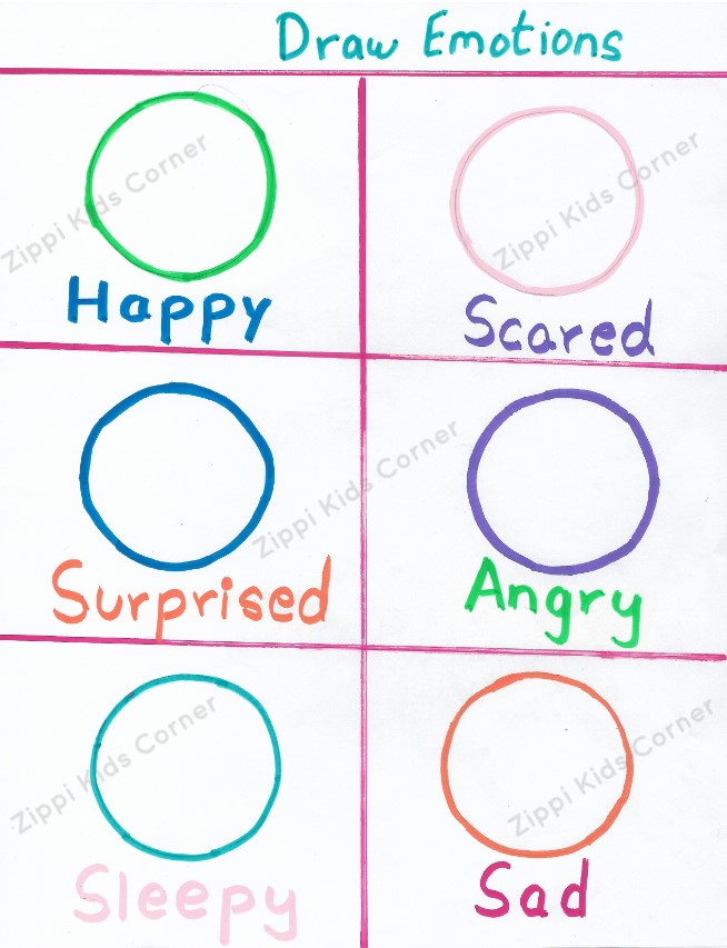 Emotions And Feelings Worksheets For Toddlers And Preschoolers - Zippi Kids  Corner