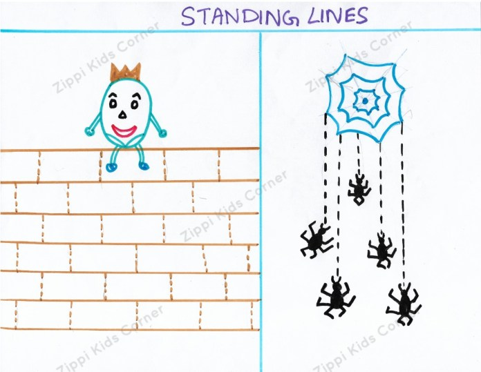 Standing Lines worksheets for nursery and Pre-k