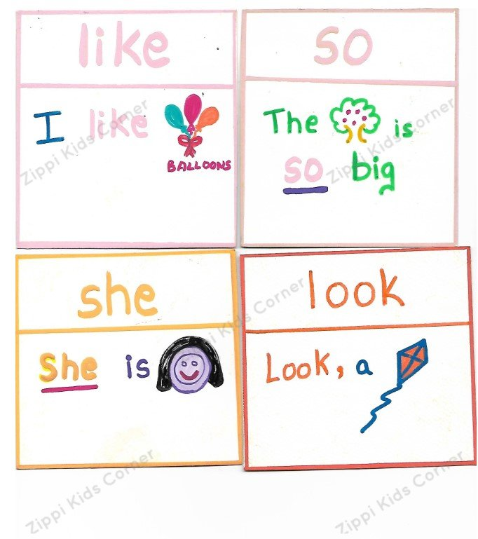 First 30 Basic Sight words DIY Flashcards
