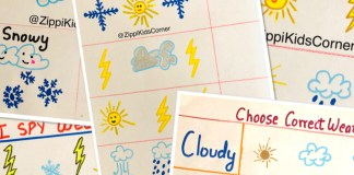 Weather Worksheets for Toddlers