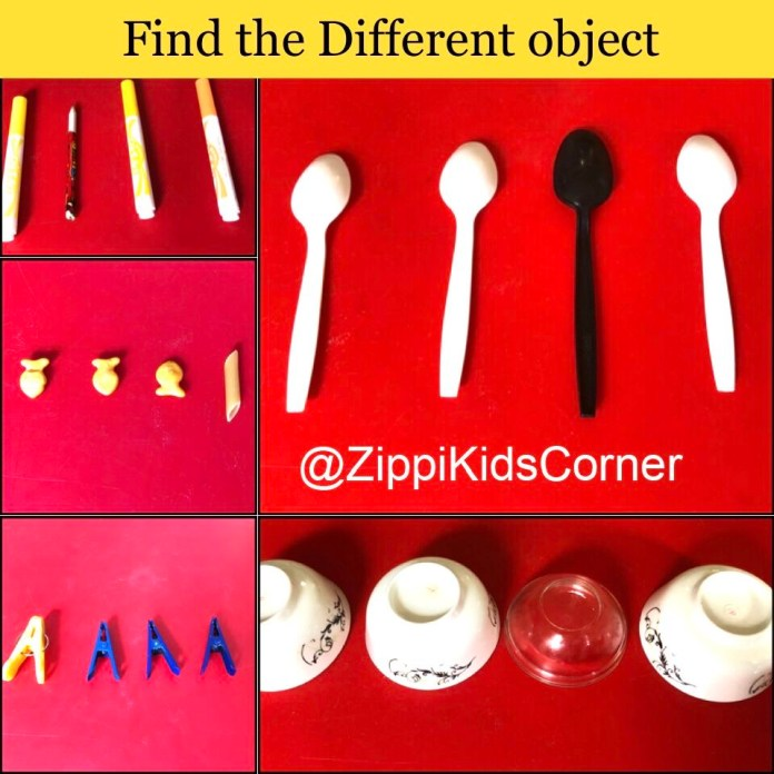 Find the odd one out pratical activity for kids