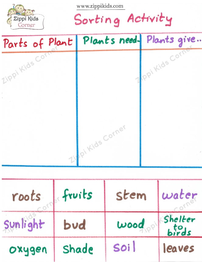 All About Plants- sorting activity -Plant Life cycle