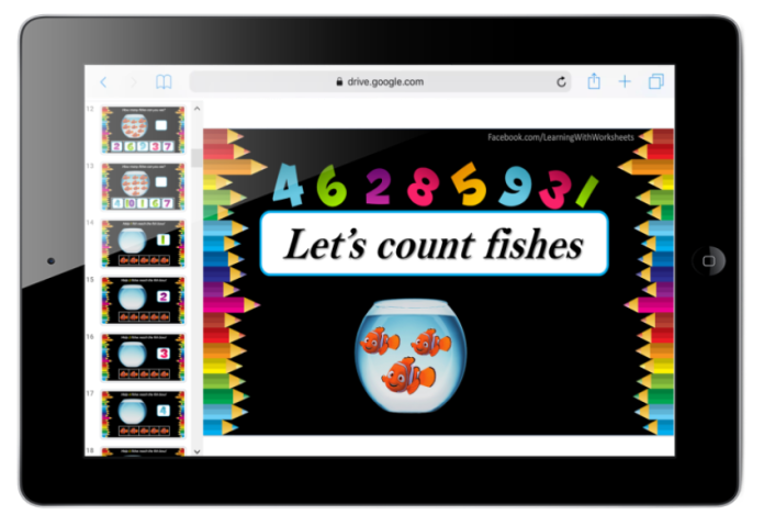 Number Counting Fish activity