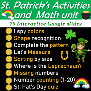 St Patrick's Day Maths