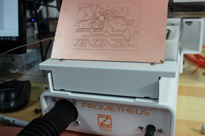 Prometheus With the PCB it Just Made