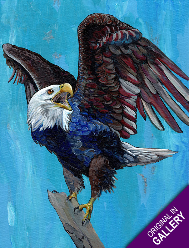 Old Glory Eagle in Gallery
