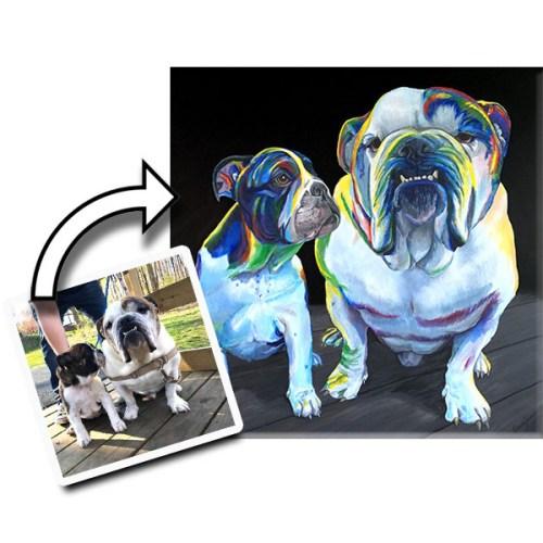 Bulldog Custom Pet Painting