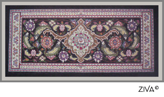 Elegant Needlepoint Seat Cover For Classic Piano Bench