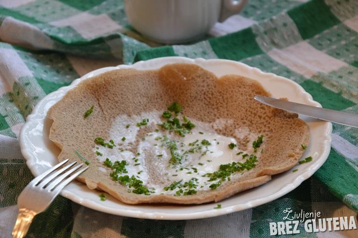 Injera - brezglutenski etiopski kruh iz tefa
