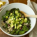 Wild Rice Salad With Beans, Avocado And Sesame Oil Dressing