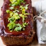 Glazed Walnut Green Lentil Loaf