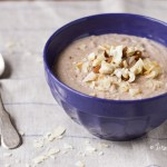 Superfood Breakfast: Vegan Sugar-Free Almond Cashew Walnut Coconut Porridge
