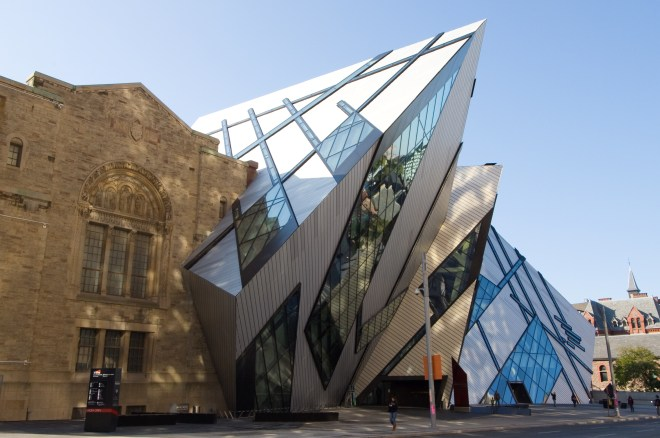 The Royal Ontario Museum by Daniel Libeskind