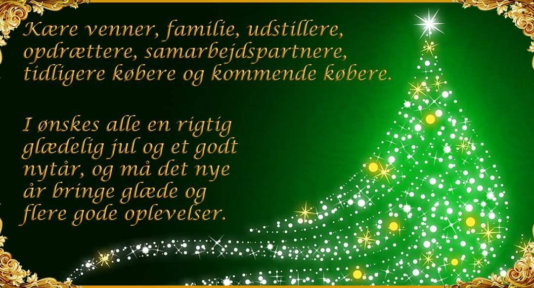 Glædelig jul og godt nytår.