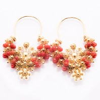 Image result for coral earrings