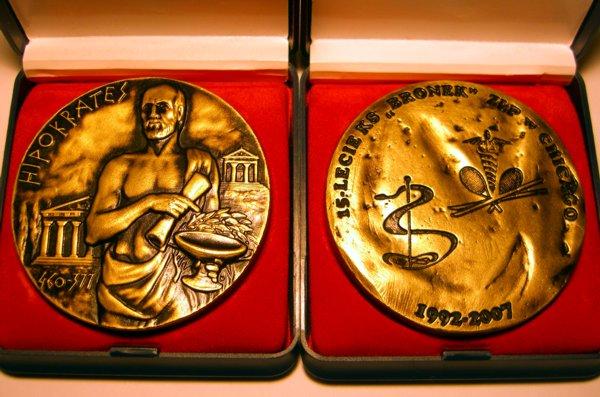 Medal 15-lecia KS Bronek ZLP w Chicago.