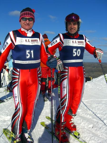 Od lewej M.Rudnicki B.Orawiec - Wilmot Mt. Wisconsin. 5 lutego 2006