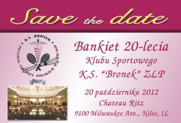 Save the Date KS Bronek XX Lecie
